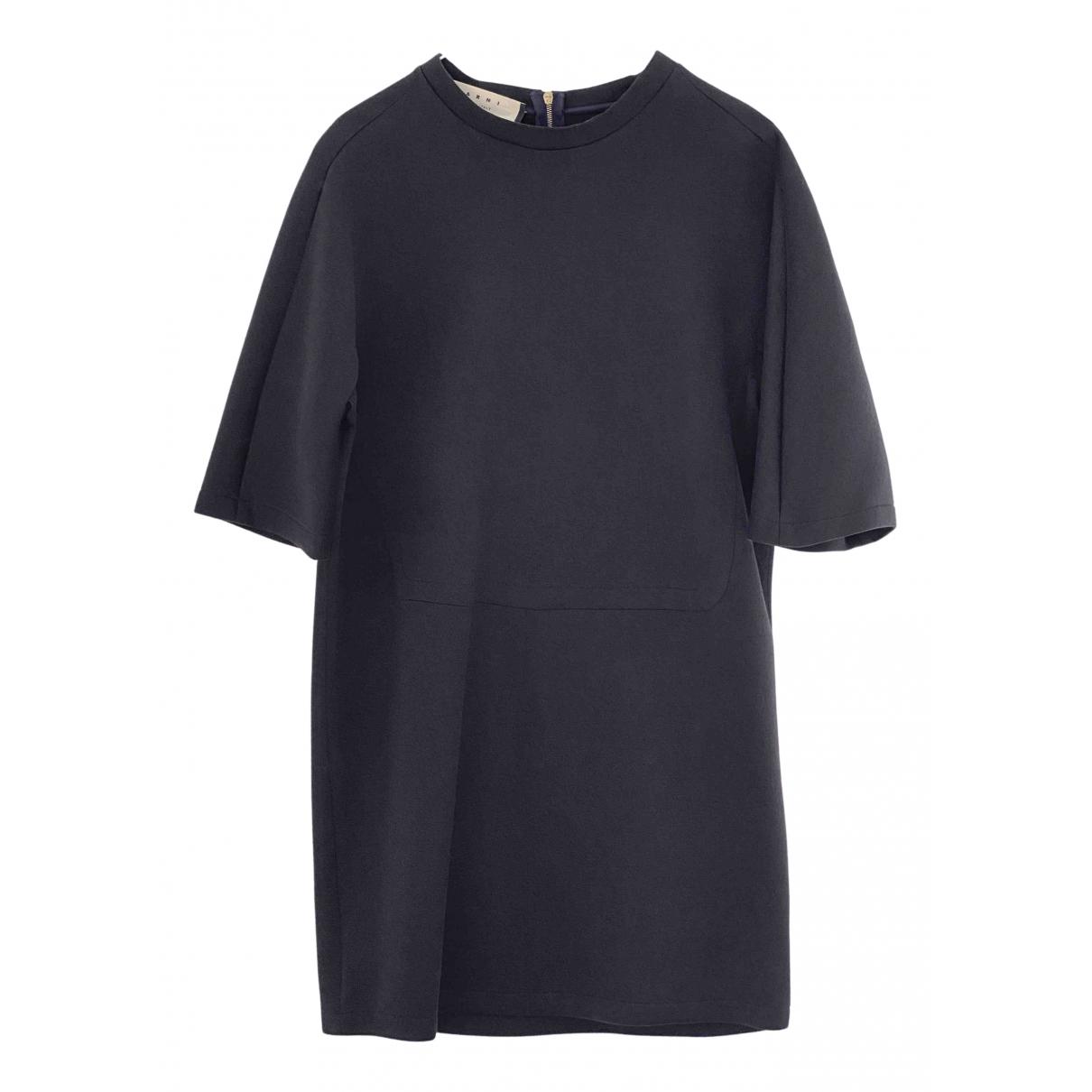 Marni \N Kleid in  Grau Baumwolle - Elasthan