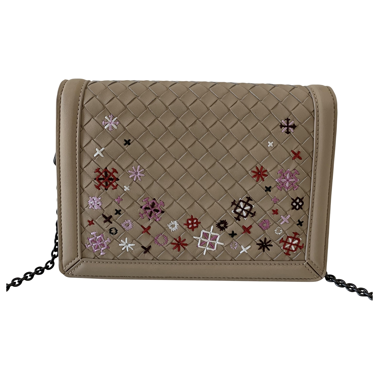 Bottega Veneta \N Clutch in  Beige Leder
