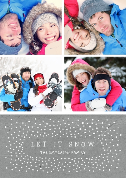Holiday Photo Cards 5x7 Cards, Premium Cardstock 120lb, Card & Stationery -Snow Collage