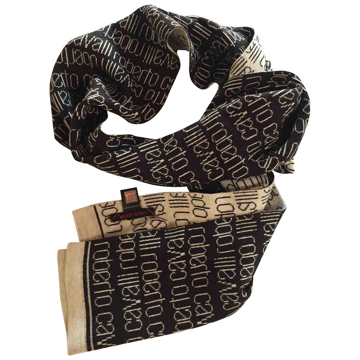 Roberto Cavalli \N Schal in  Braun Wolle