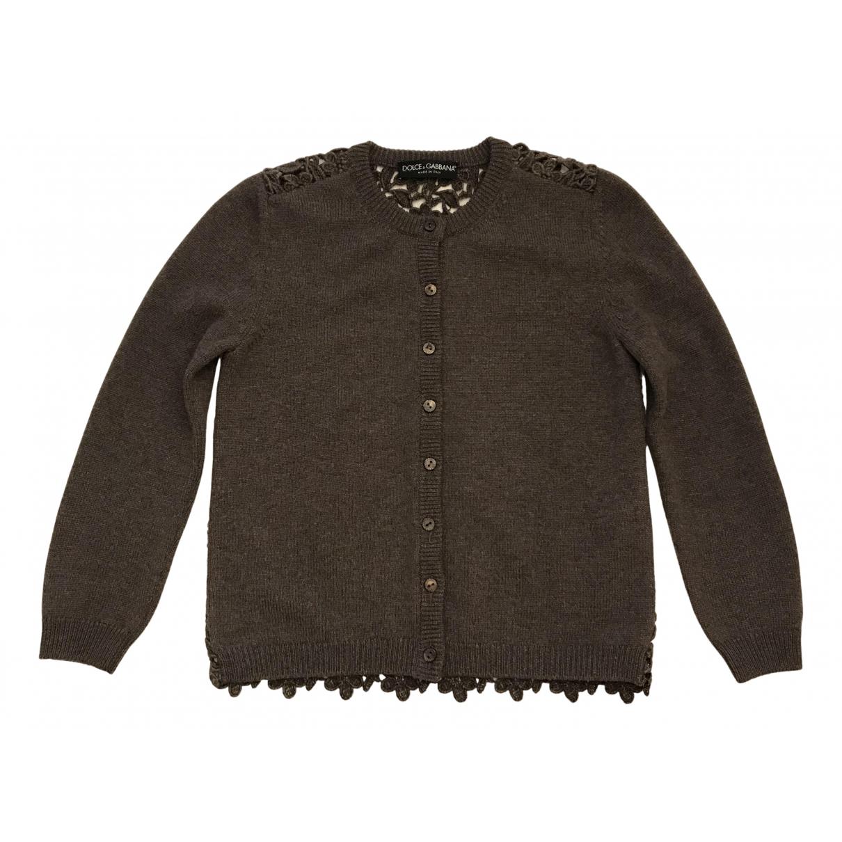 Dolce & Gabbana - Pull   pour femme en laine - kaki