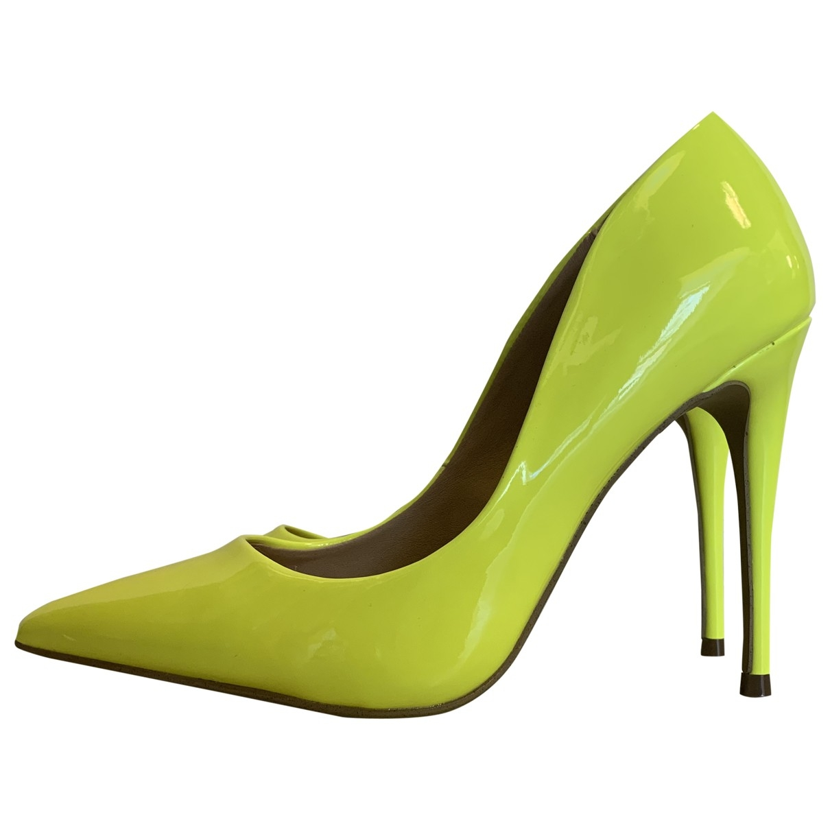Steve Madden \N Yellow Patent leather Heels for Women 38 EU