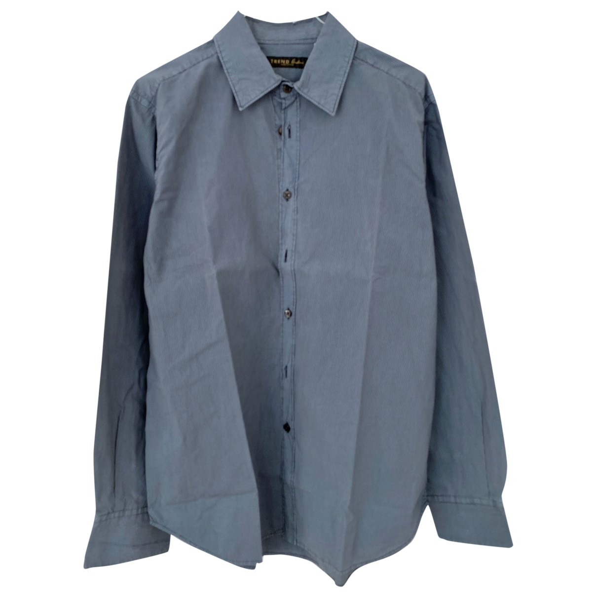 Corneliani \N Blue Cotton Shirts for Men 41 EU (tour de cou / collar)