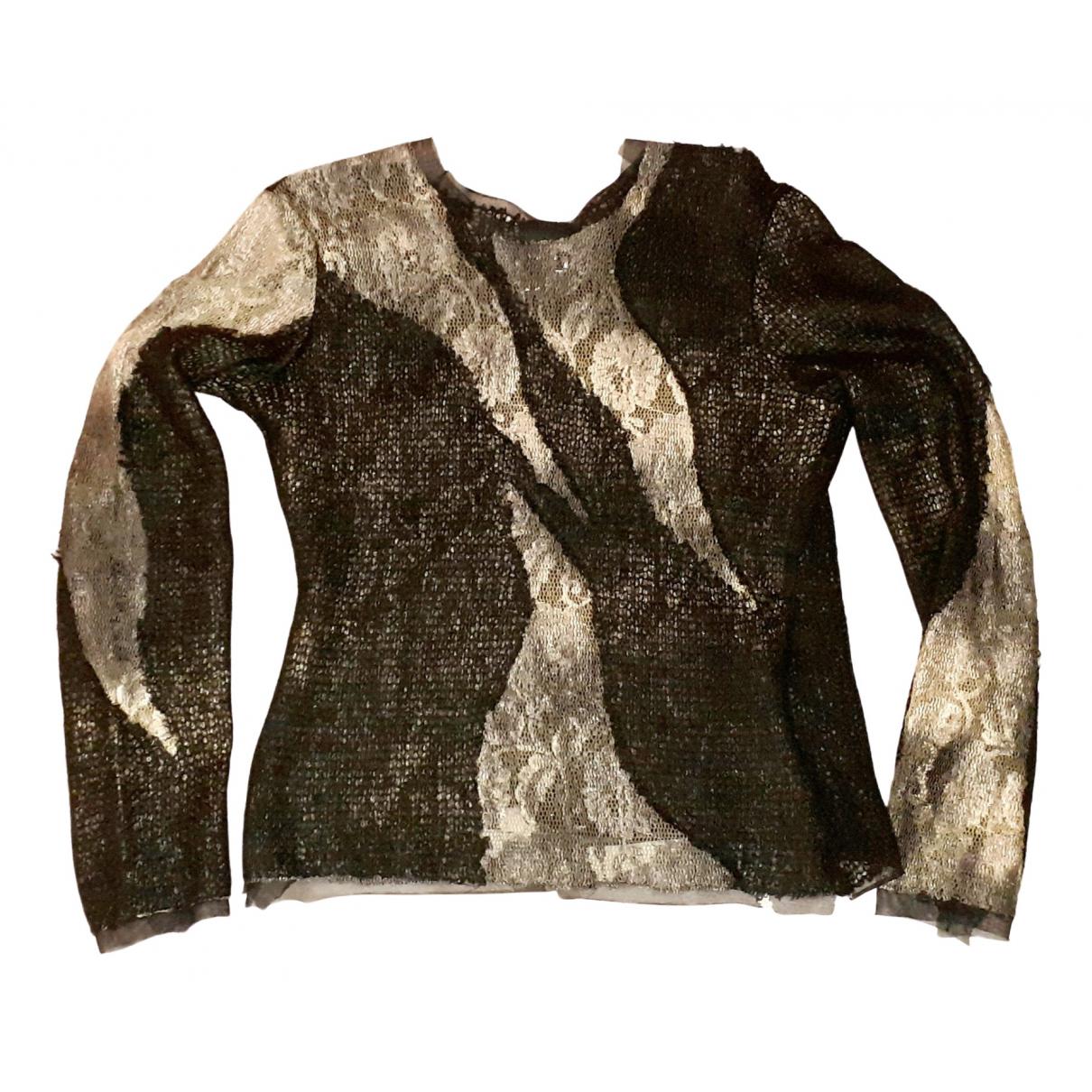 Versace Jean - Pull   pour femme en laine - noir