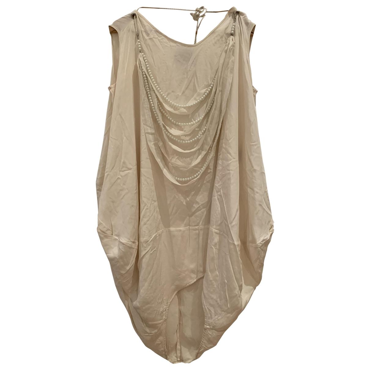 Hôtel Particulier \N White Silk dress for Women M International