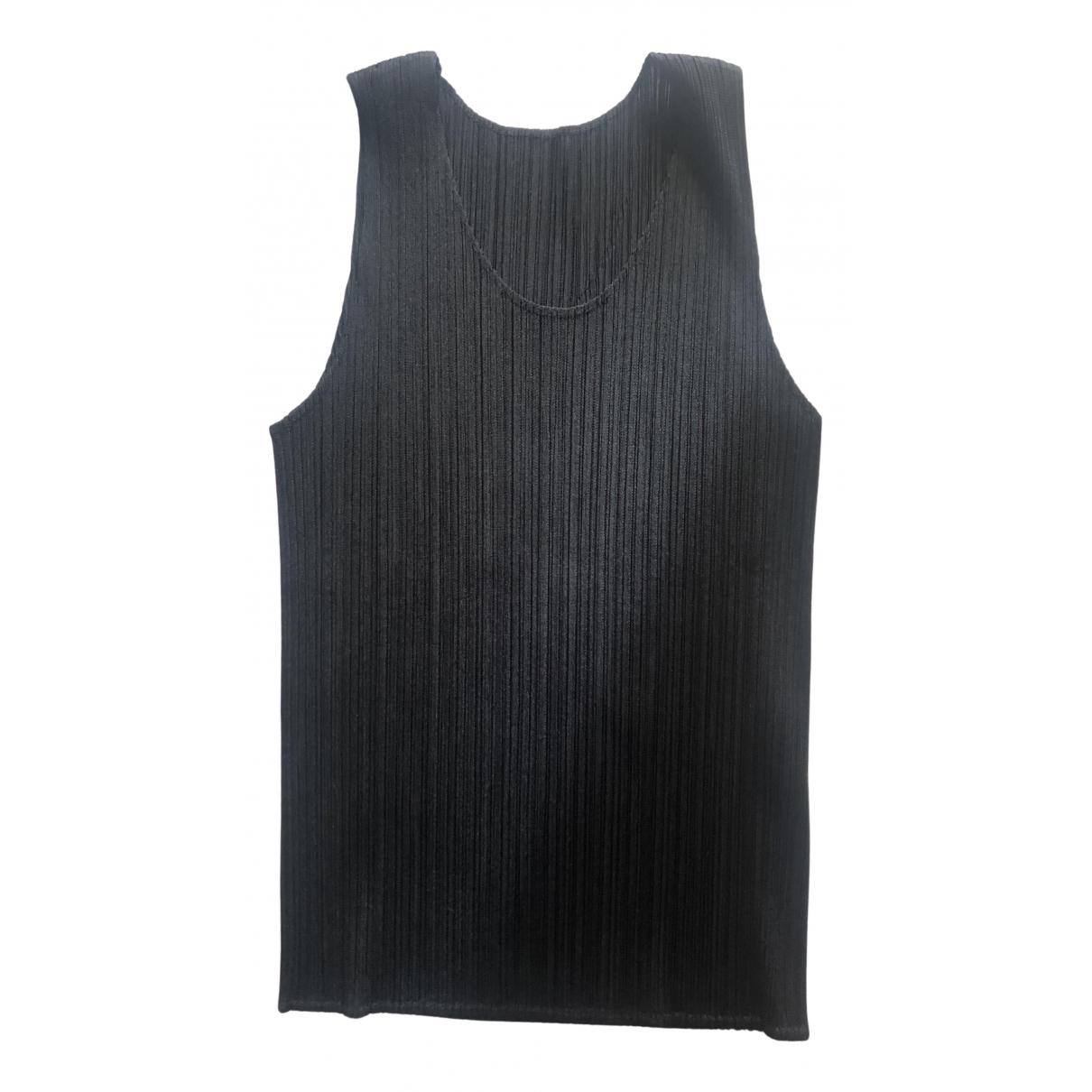 Pleats Please - Top   pour femme - noir