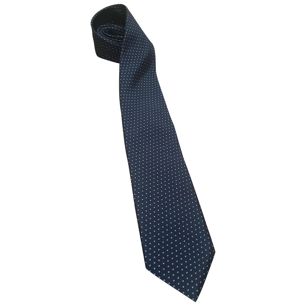 Boggi - Cravates   pour homme en coton - bleu