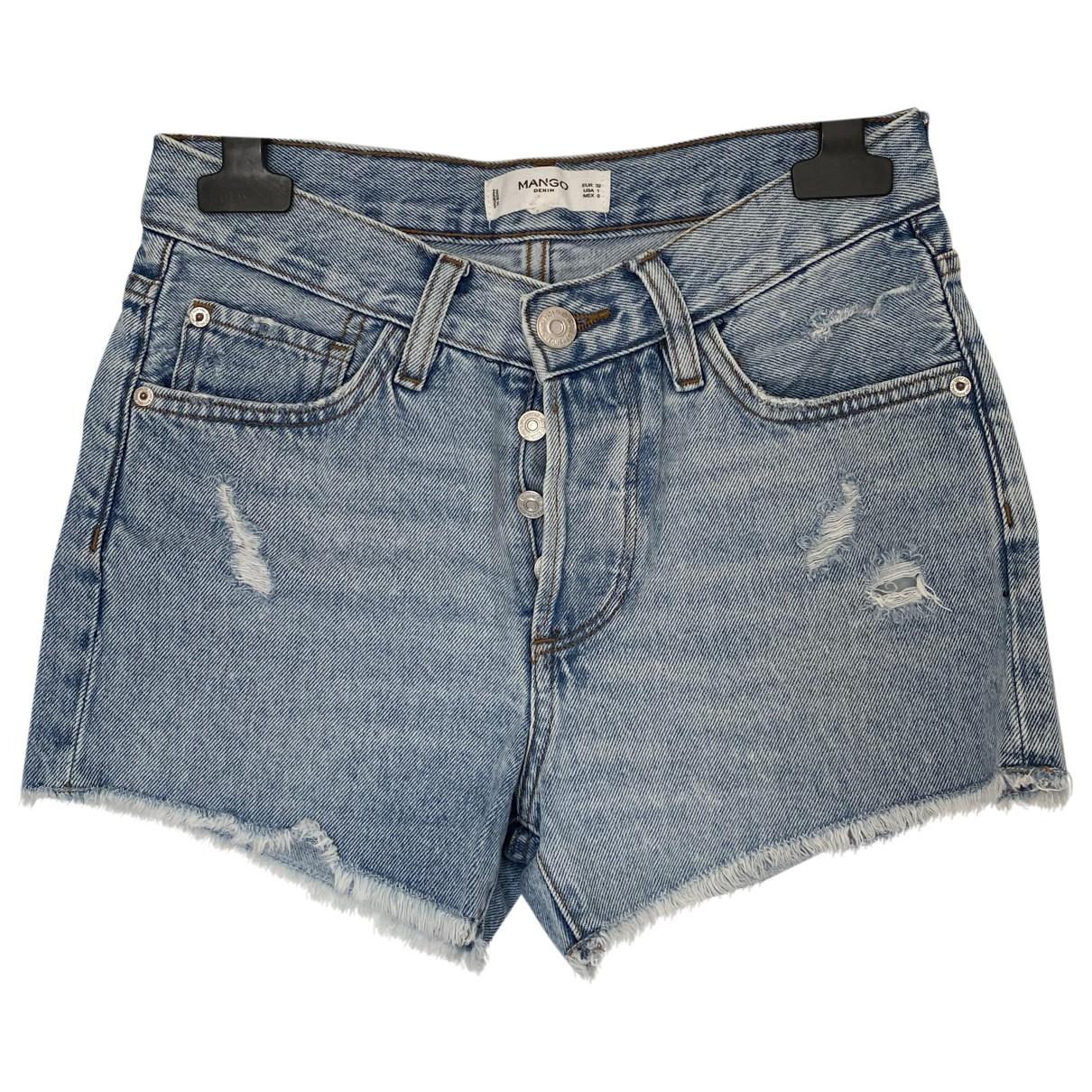 Mango \N Blue Denim - Jeans Shorts for Women 1 US