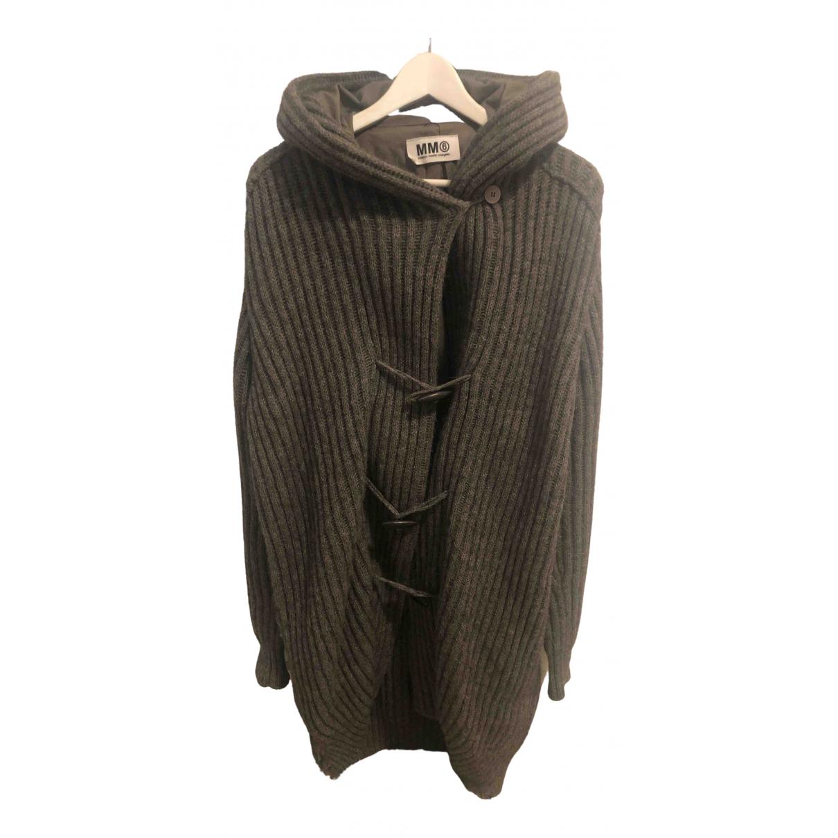 Mm6 - Manteau   pour femme en laine - gris