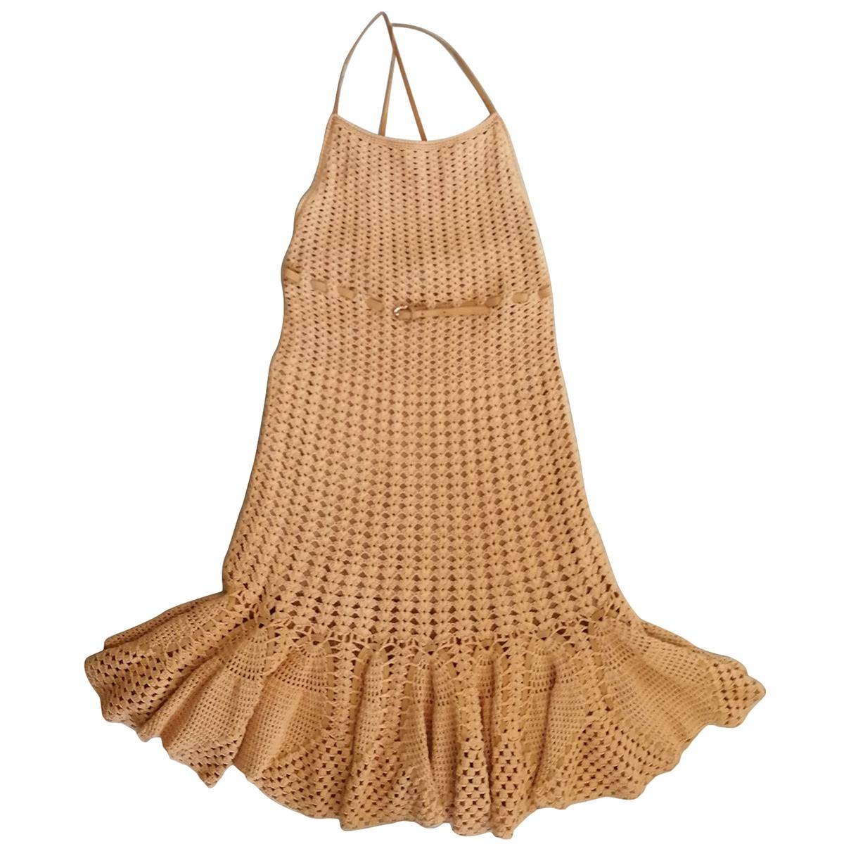 Salvatore Ferragamo - Robe   pour femme en coton - camel
