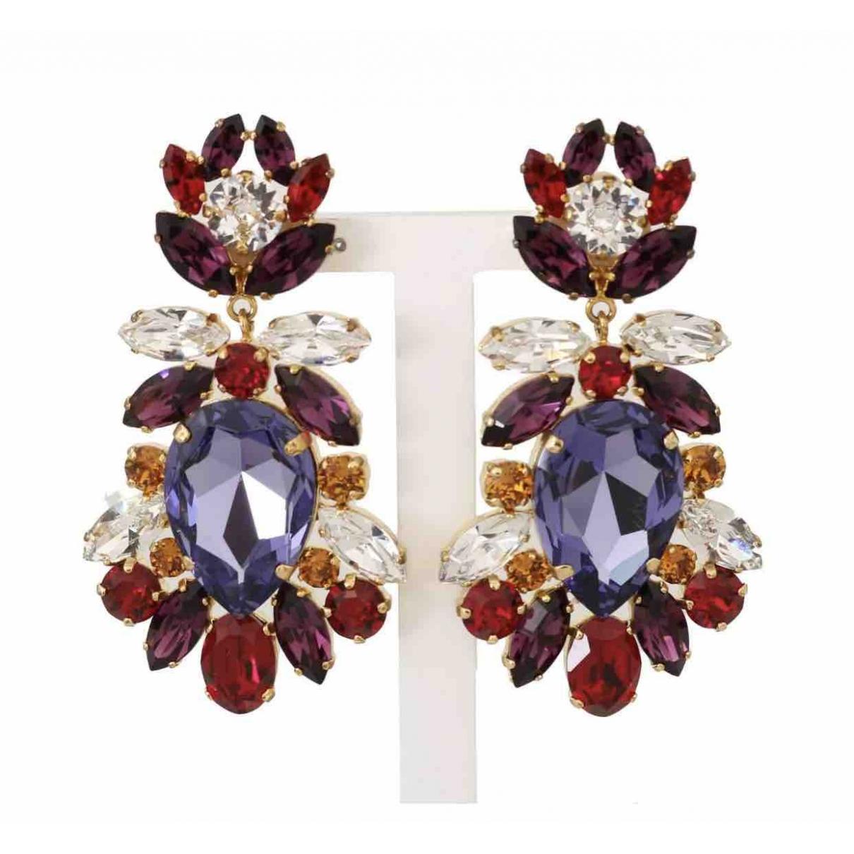 Dolce & Gabbana - Boucles doreilles   pour femme en cristal - violet