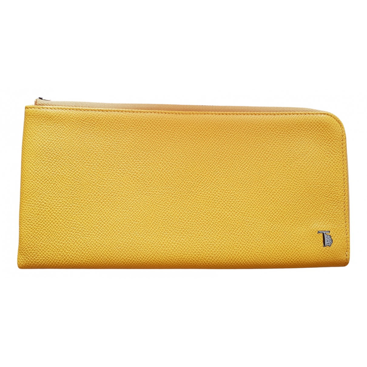 Tods N Yellow Leather Small bag, wallet & cases for Men N