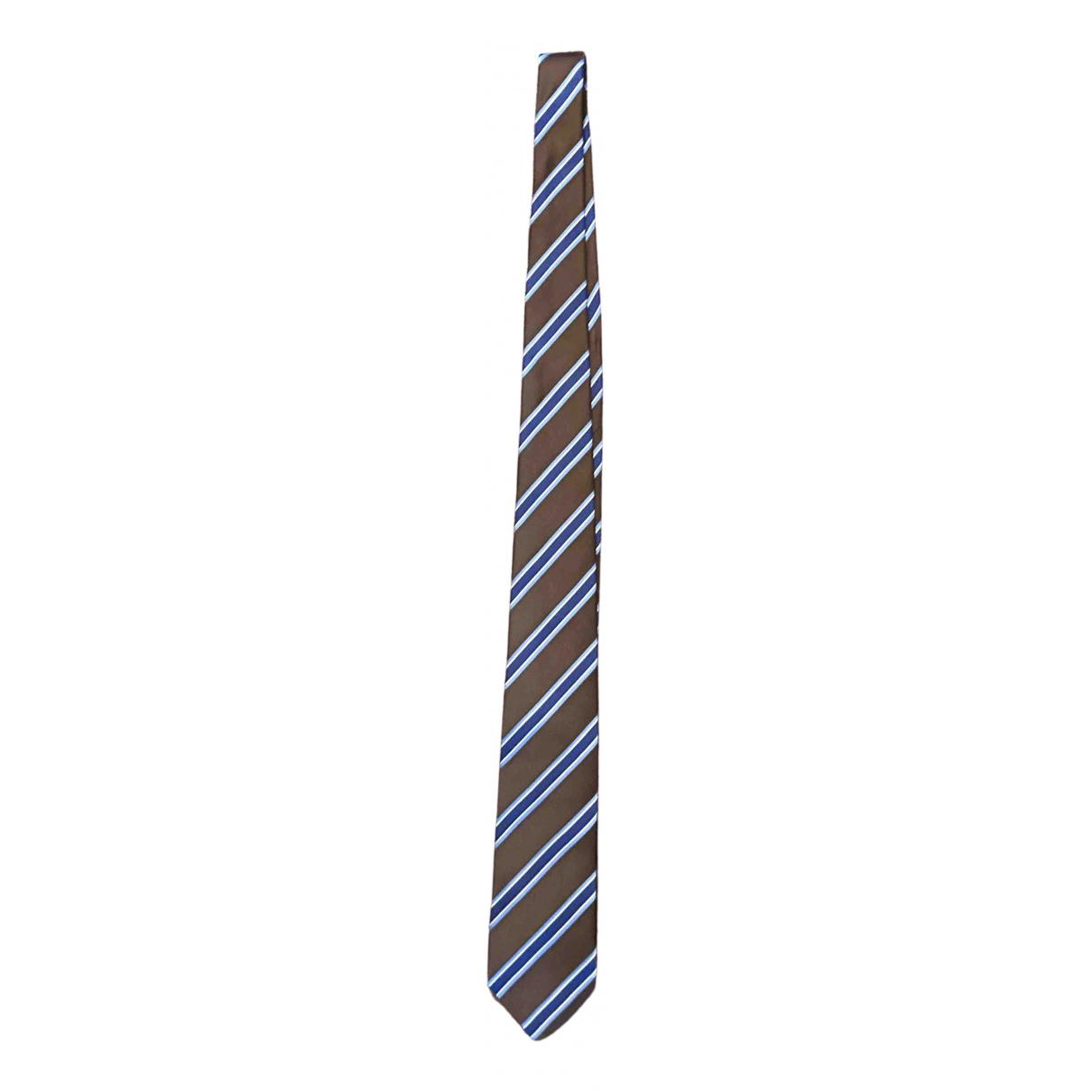 Non Signe / Unsigned \N Krawatten in  Braun Seide