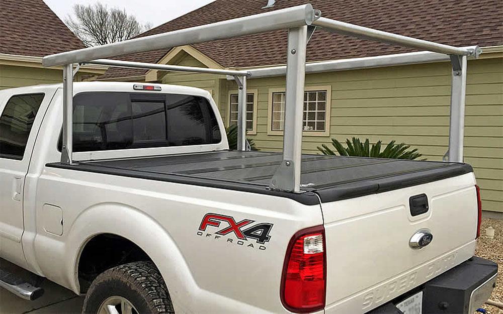 US Rack 83910620 Schooner Truck Bed Rack Brushed Aluminum |  Stainless Steel