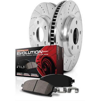 Power Stop Z23 Evolution Sport Performance 1-Click Front and Rear Brake Kit - K6065