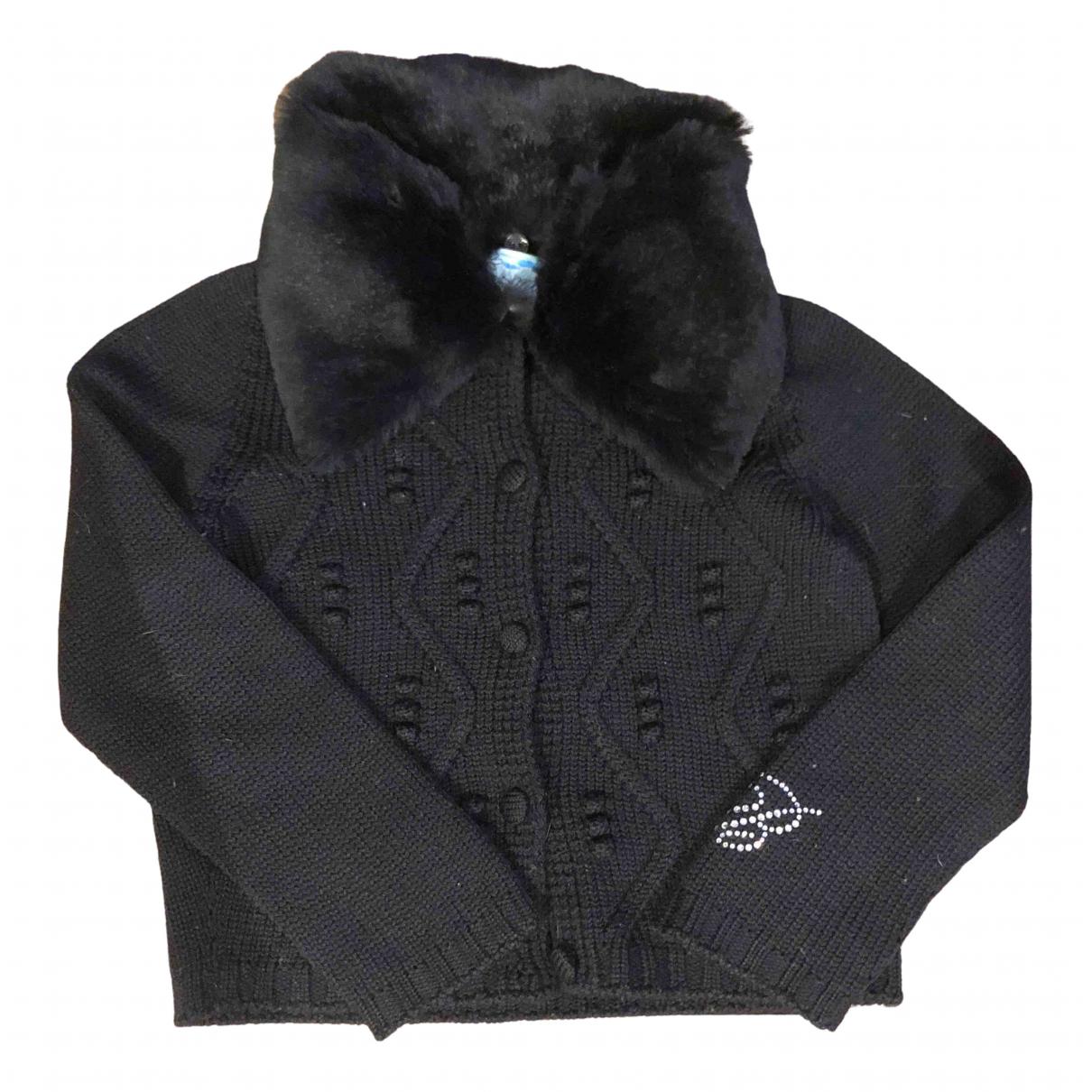 Blumarine - Pull   pour enfant en laine - noir