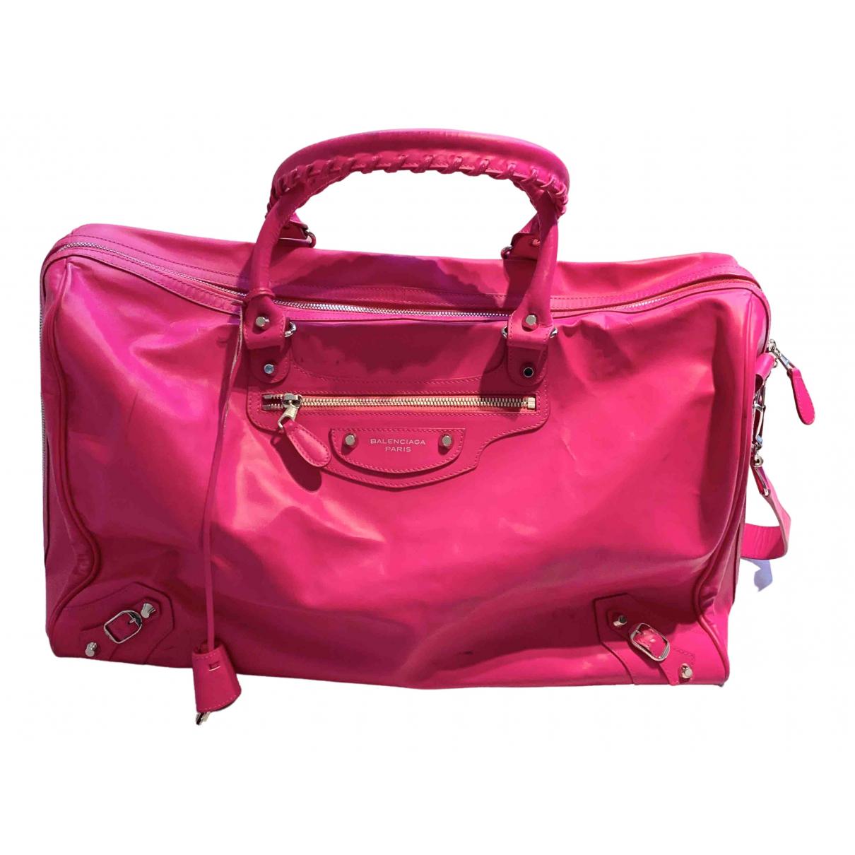Balenciaga - Sac de voyage   pour femme en cuir - rose