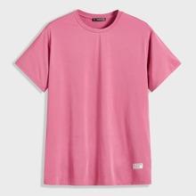 Maenner T-Shirt mit Flicken