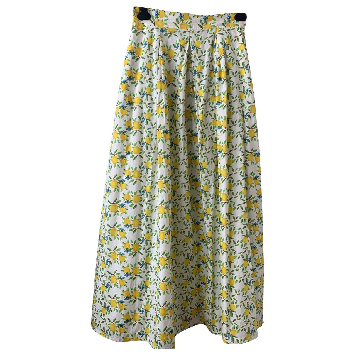 Cestlav - Jupe   pour femme en coton - jaune