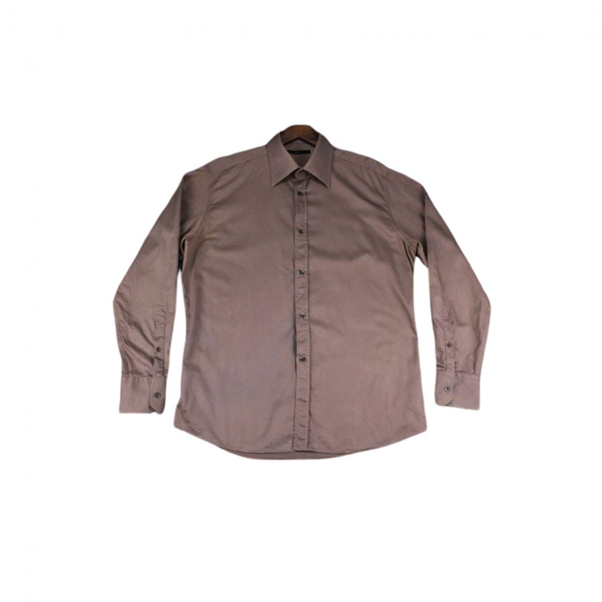 Gucci \N Brown Cotton Shirts for Men 42 EU (tour de cou / collar)