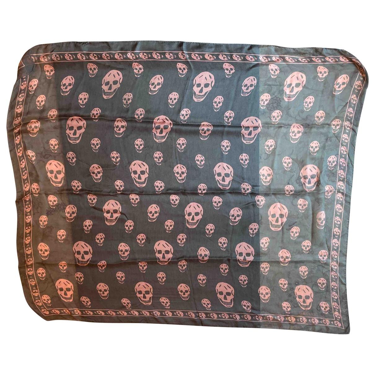 Alexander Mcqueen \N Grey Silk scarf for Women \N