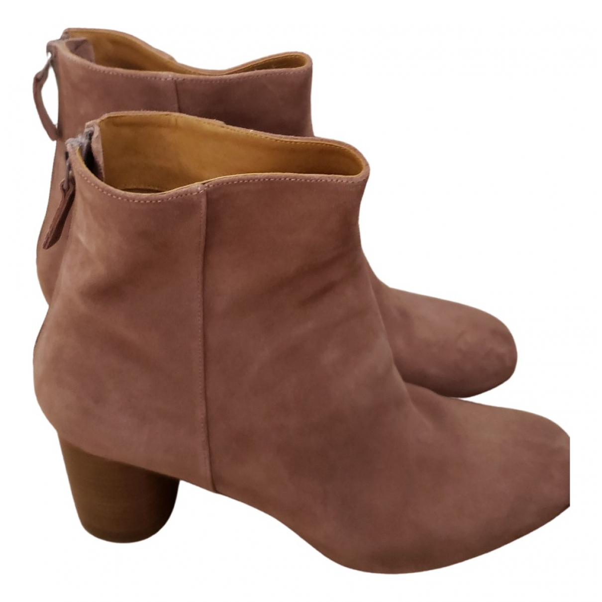 Sandro Fall Winter 2019 Camel Leather Boots for Women 40 EU