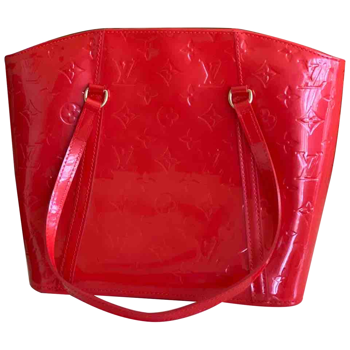 Louis Vuitton Avalon Handtasche in  Rot Lackleder