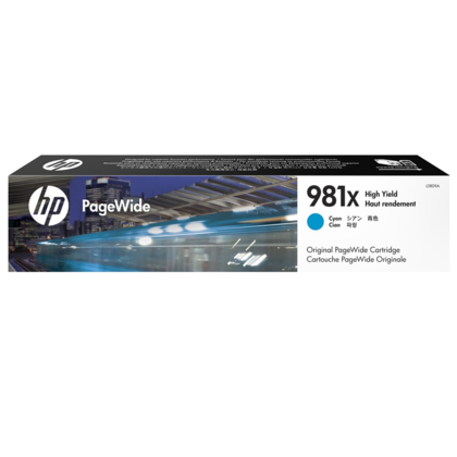 HP 981X L0R09A Original Cyan PageWide Ink Cartridge High Yield