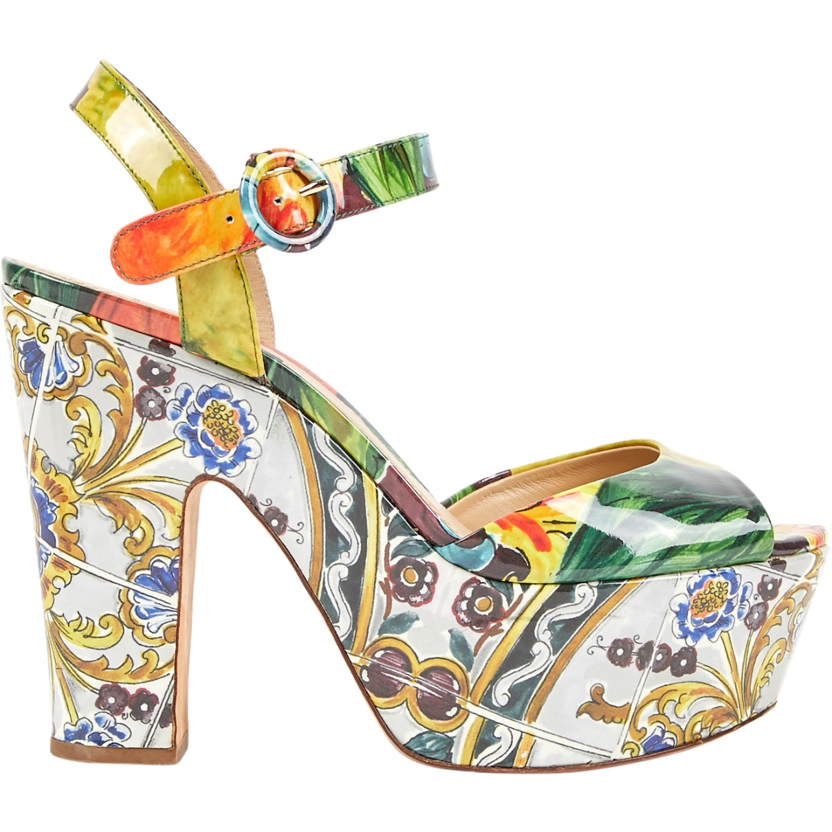 Dolce & Gabbana \N Multicolour Patent leather Sandals for Women 40 EU