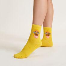 Socken mit Biene Muster