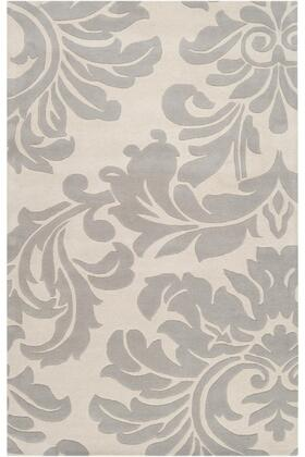Athena Collection ATH5073-46 Rectangle 4' x 6' Area Rug with Hand Tufting and Wool Material in Grey and Neutral