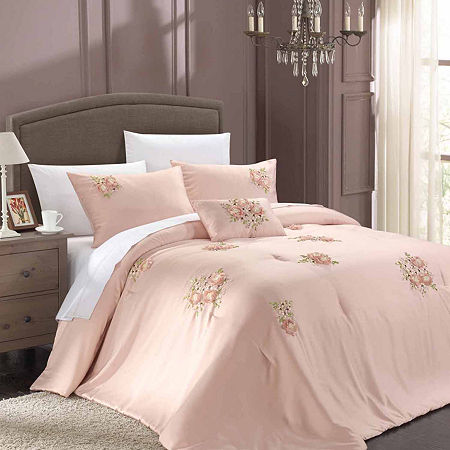 Chic Home Rosetta 5-pc. Midweight Comforter Set, One Size , Pink