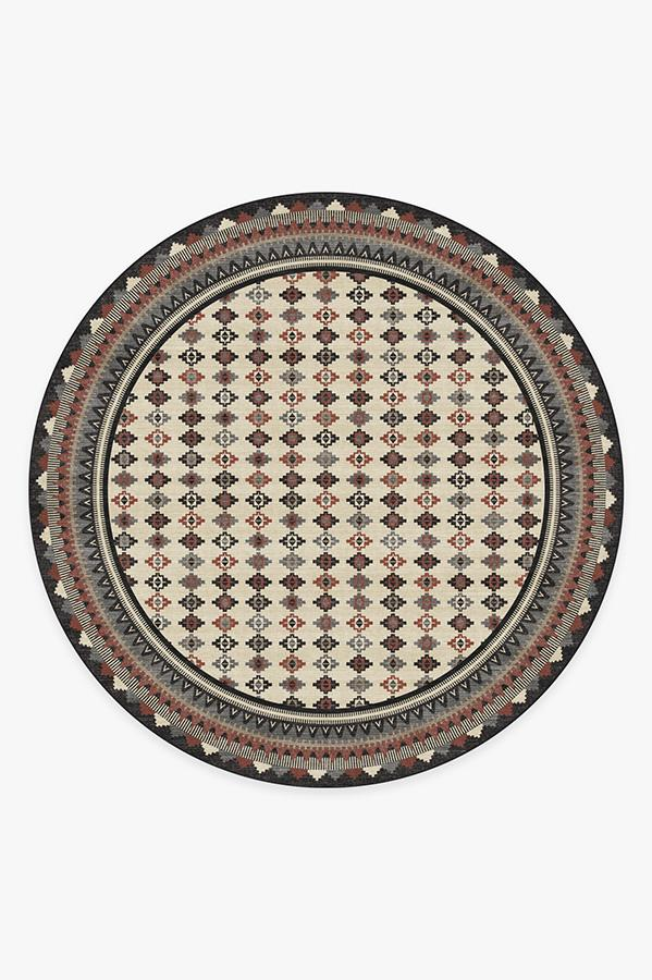 Washable Rug Cover & Pad | Noorani Sumac Rug | Stain-Resistant | Ruggable | 8' Round