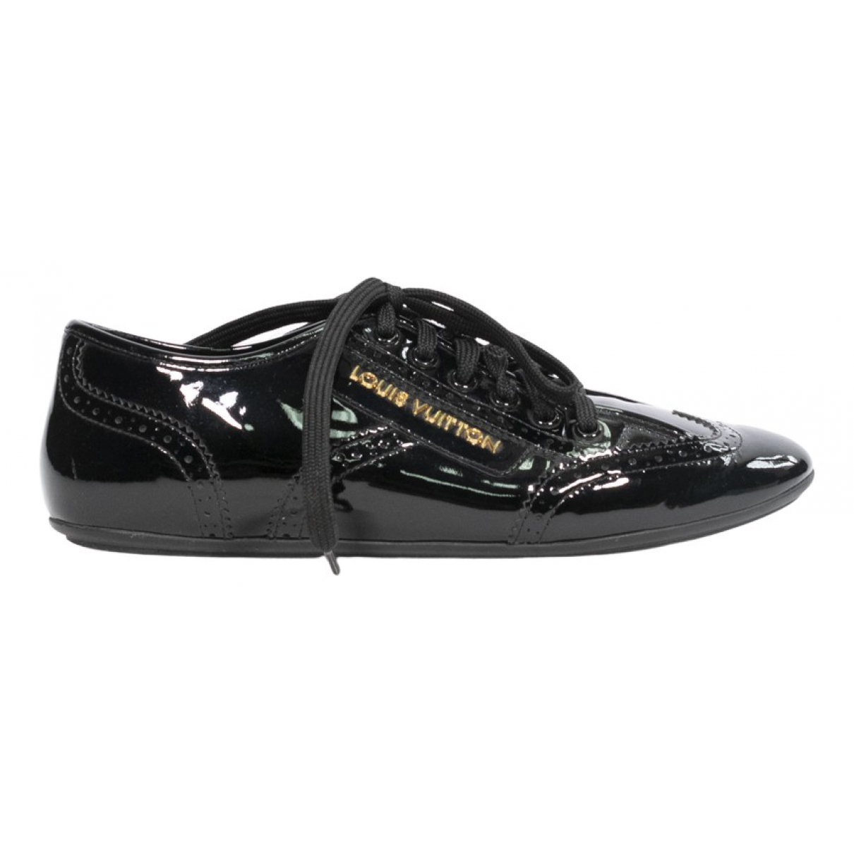 Louis Vuitton FrontRow Sneakers in  Schwarz Lackleder