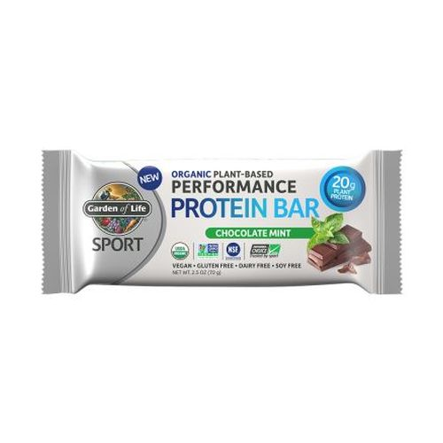 Performance Protein Bar Chocolate Mint 12 Bars by Garden of Life