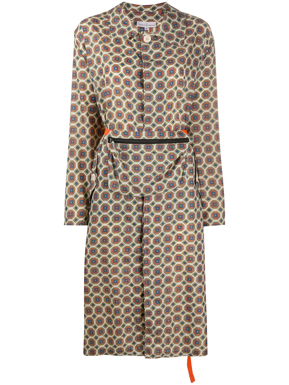 Multicolour Tile-print Coat