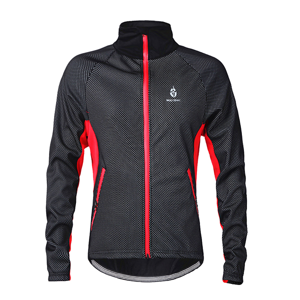 Male Warm Outdoor Long Sleeve Jersey Windproof Cycling Jersey