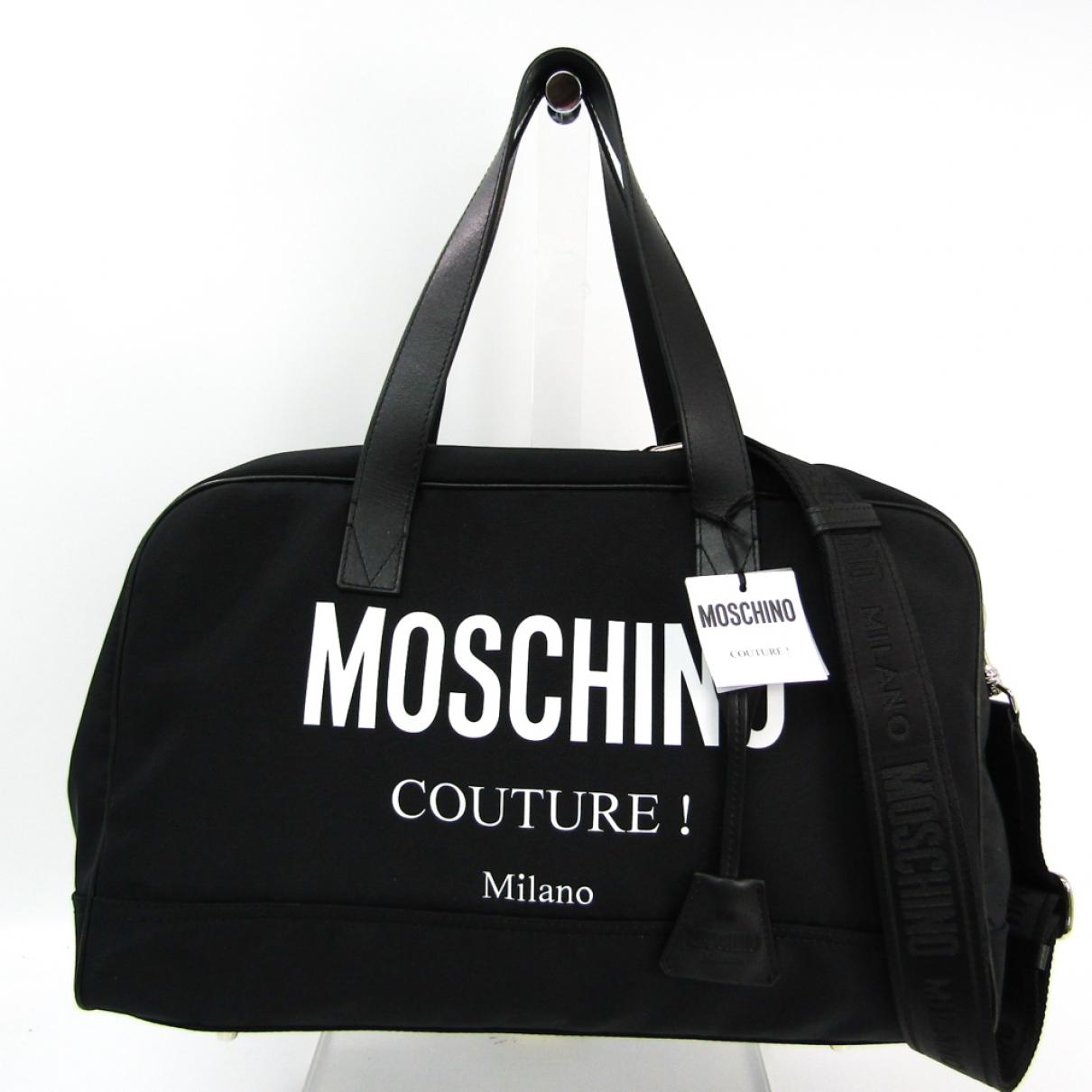 Moschino \N Black Cloth Travel bag for Women \N