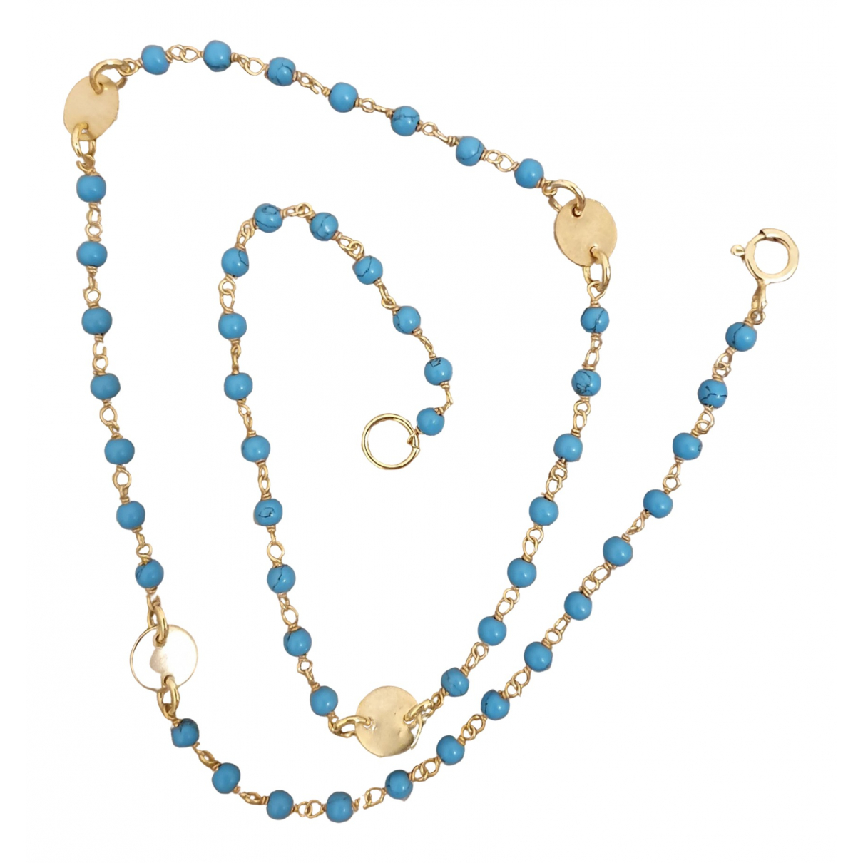 Liv Oliver \N Blue Pearls necklace for Women \N