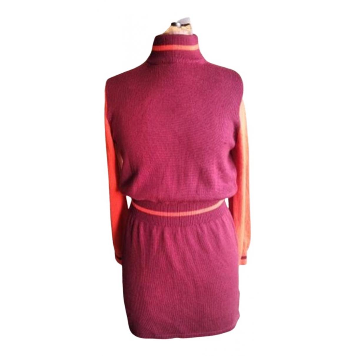 Agnès B. \N Burgundy Wool dress for Women 40 FR