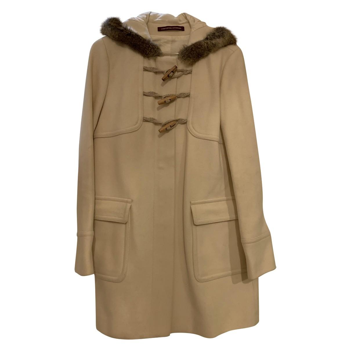 Comptoir Des Cotonniers \N Beige Wool coat for Women 36 FR