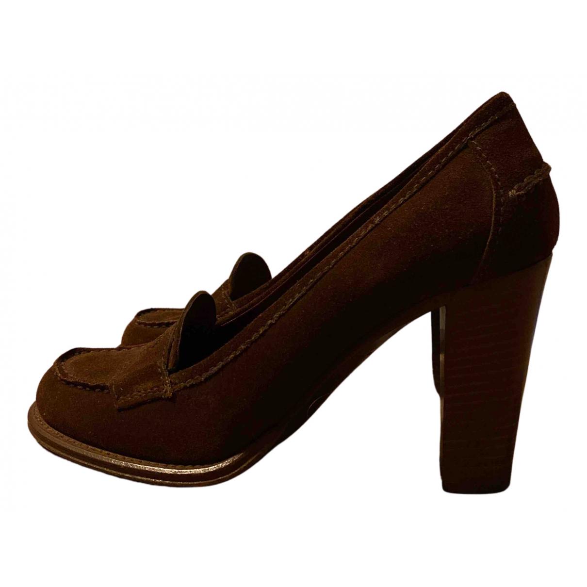 Prada - Escarpins   pour femme en suede - marron