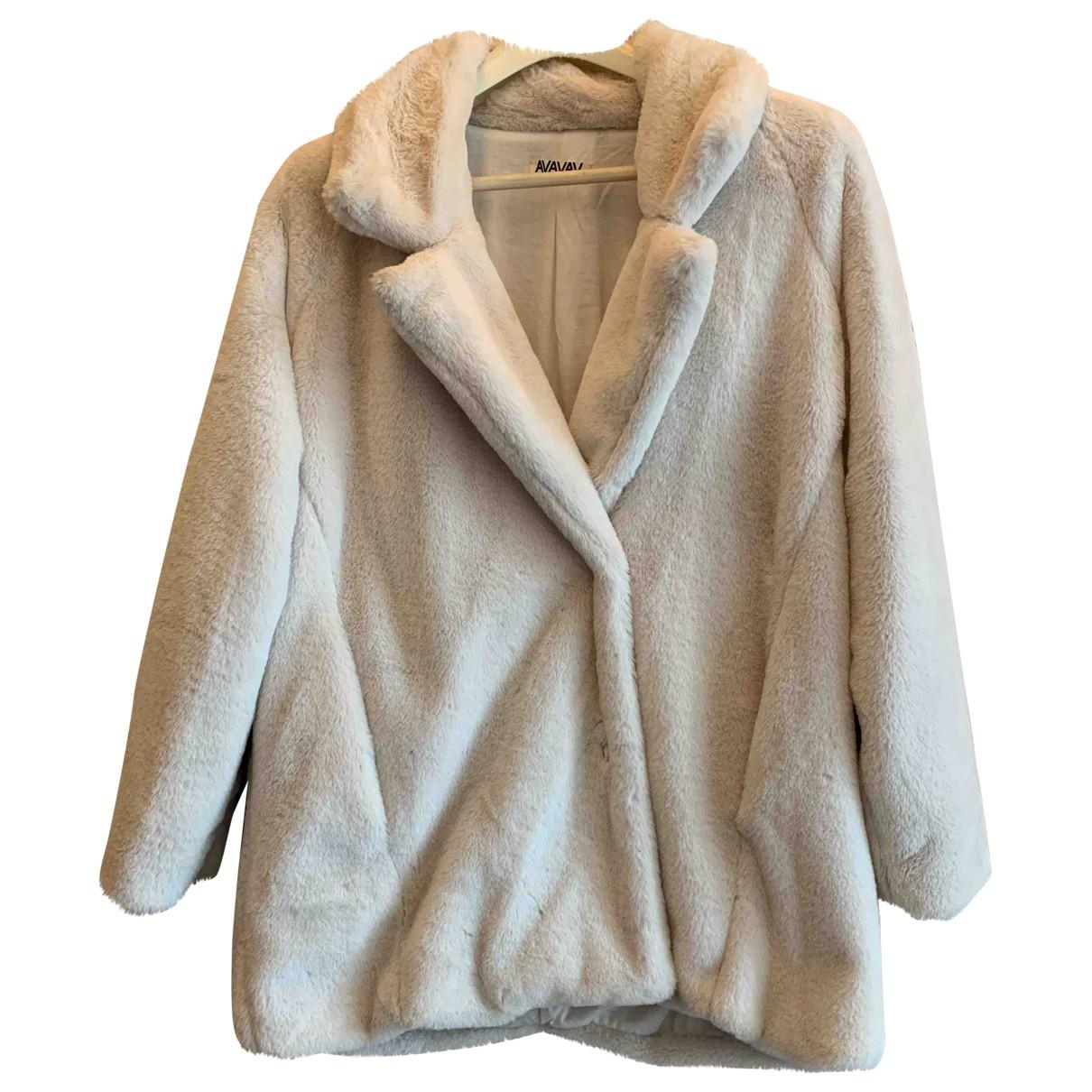 Avavav - Manteau   pour femme en fourrure synthetique - blanc