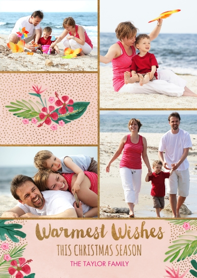 Christmas Photo Cards Flat Glossy Photo Paper Cards with Envelopes, 5x7, Card & Stationery -Desert Snow