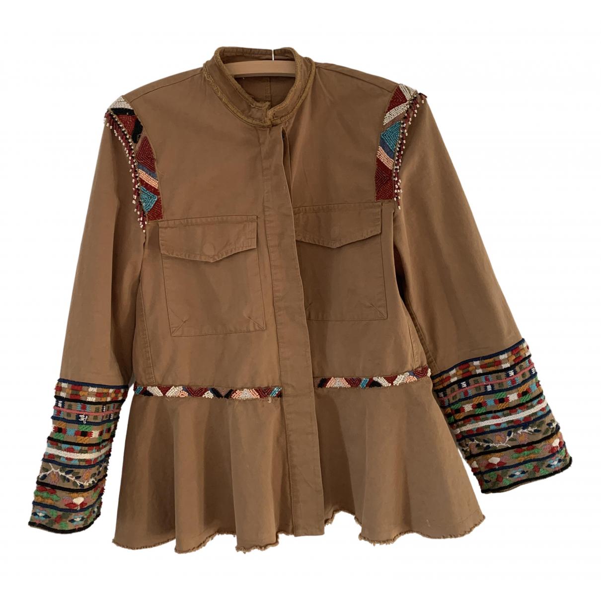 Zara N Brown Cotton jacket for Women S International