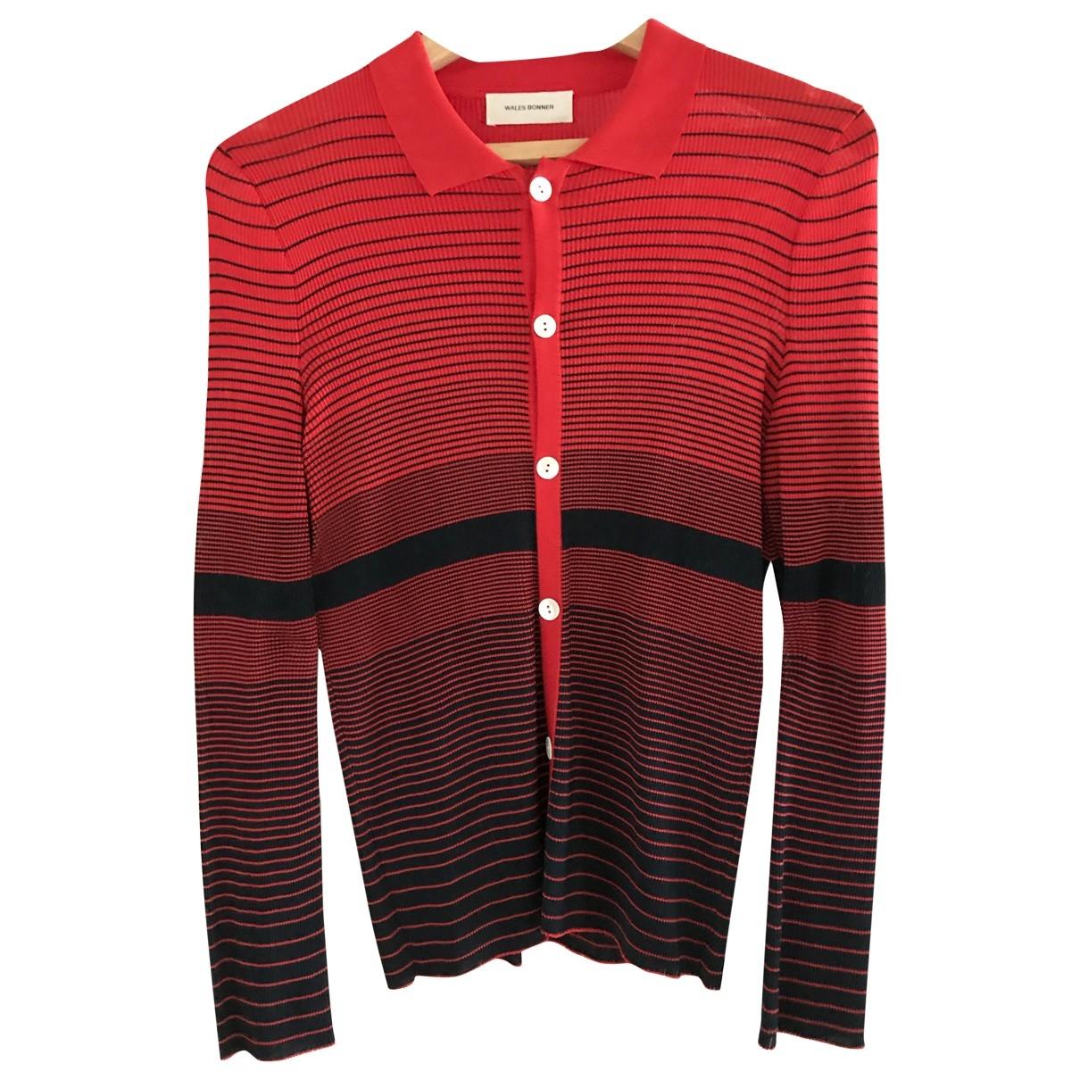 Wales Bonner \N Pullover.Westen.Sweatshirts  in  Rot Seide
