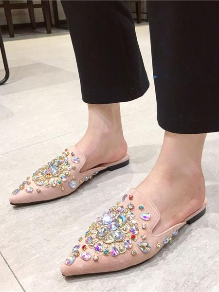 Milanoo Zapatos con adorno en punta plana para mujer