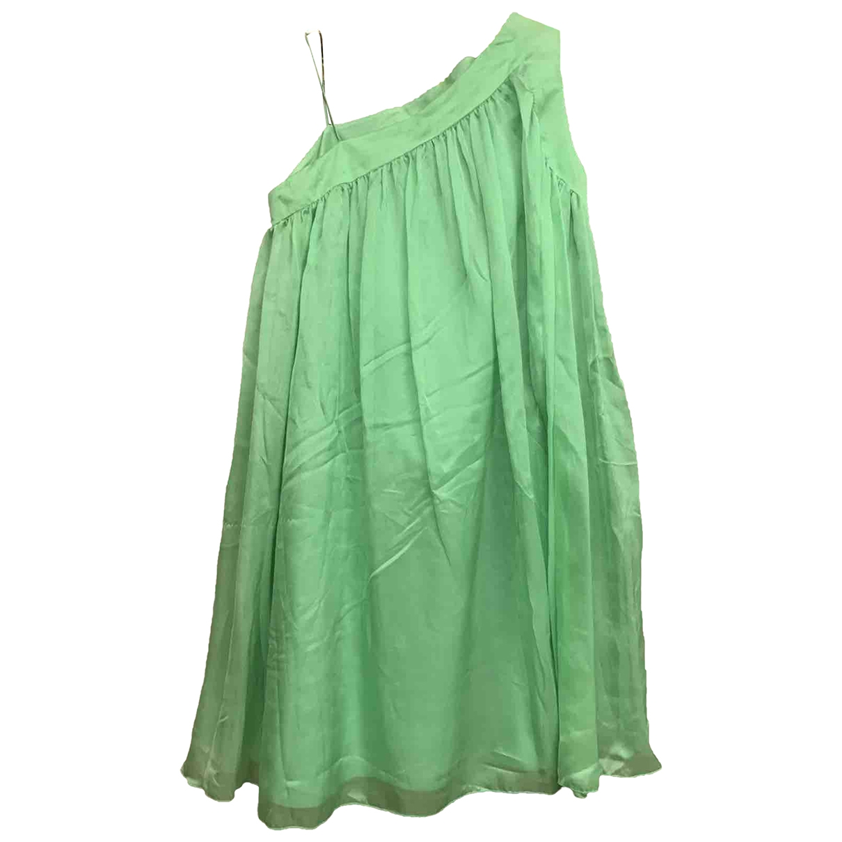 Chloe \N Kleid in  Gruen Seide