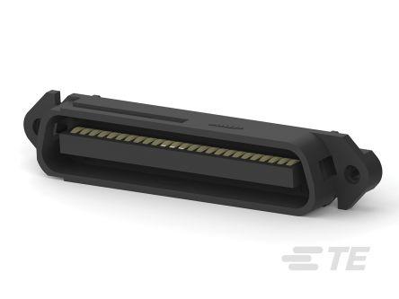 TE Connectivity , CHAMP, 229974, 50 Way, 2 Row PCB Header (100)