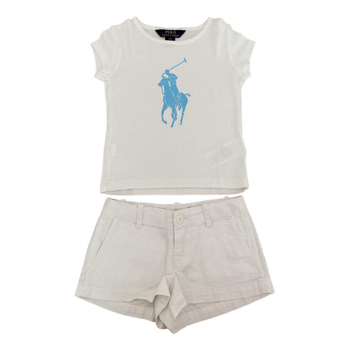 Polo Ralph Lauren - Les ensembles   pour enfant en coton - blanc